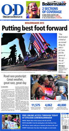 The front page for Monday, July 13, 2015: Putting best foot forward