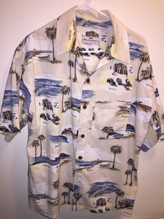 Honolua Surf Company Hawaiian Aloha Casual Shirt Men's Size L Hawaiian Islands #Honolua #Hawaiian
