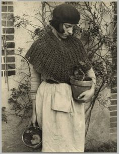 kafkasapartment:  Girl with Flower Pot, 1932. Ilse Bing (American, 1899-1998). Gelatin silver print