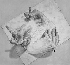 M. C. Escher.....love this image..thought provoking..