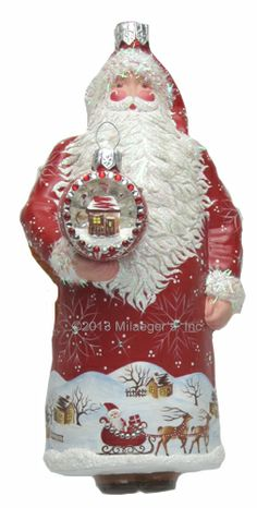 2013 Milaeger's Christmas Exclusive - Santa for David in Red by Patricia Breen.