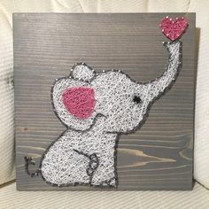 CUSTOM Elephant Love String Art Sign Baby Elephant door KiwiStrings