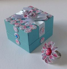 Candi ring and box designed and decorated by Marie Chillmaid