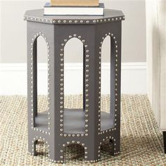Amala Azeo Side Table, Grey