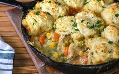Chicken pot pies are one of my favorite comfort food dishes, I grew up eating them. Back then they came out of the freezer section and were served only when my mom didn't feel like cooking, which was maybe once a month. Once I got married and had my daughter I became more conscious of [...]