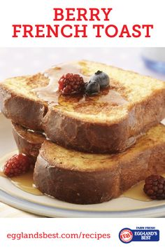 Light & Low-fat. Make this with all your favorite seasonal fruits. #EgglandsBest #FrenchToast #Breakfast #Brunch #Recipe