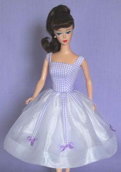 Lilac Mist! on eBay auction right now! Vintage Barbie Doll Dress Reproduction Barbie Clothes on eBay http://www.ebay.com/usr/fanfare1901?_trksid=p2047675.l2559