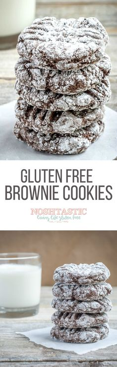 A delicious easy recipe for Gluten Free Brownie Cookies, you'll love them!