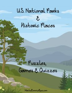 Limited Time Freebie!  U. S. National Parks & Historic Places: Puzzles, Games, & Quizzes.