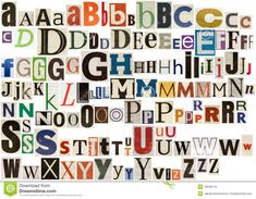 Colorful Newspaper Alphabet - Download From Over 30 Million High Quality Stock Photos, Images, Vectors. Sign up for FREE today. Image: 10539116
