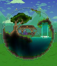 Thanks Fisherman Greg for spicing up my world with this amazing biosphere : Terraria