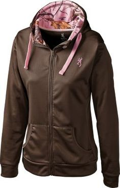 Browning® Women's Performance Full-Zip Jacket. I am not a fan of pink camo, but this is really cute!