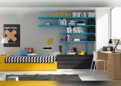 Dormitorio juvenil con cama cubo