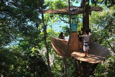 The Six Senses Soneva Kiri resort on the Thai island of Koh Kood now offers 'tree-pod' dining for its more adventurous guests.