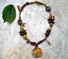 saffron necklace . . . by marthasrubyacorn on Etsy, $74.00