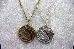 Fashion Jewelry Vintage Charm Song Of Ice And Fire Game Of Thrones Targaryen Dra #ZRM