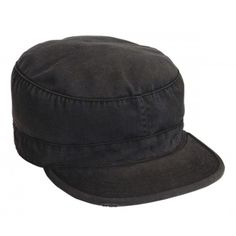 Vintage Black Fatigue Cap