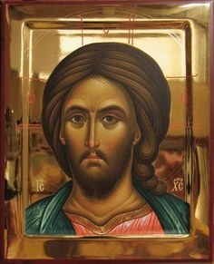 Our Lord Jesus Christ Byzantine Icons, Byzantine Art, Religious Icons, Religious Art, Christ Pantocrator, Morning Glory Flowers, Paint Icon, Images Of Christ, Russian Icons