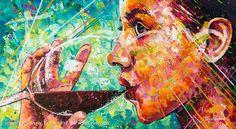 VINO TINTO Acrylic on Canvas 140cm x 250cm