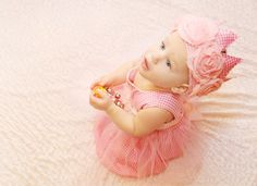 1st birthday  pink baby girl princess dress photo by bonbonLand, $33.00