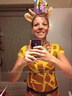 Easy and Fun Giraffe Costume... This website is the Pinterest of costumes