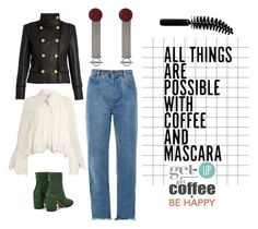 """Get up! Get out there!"" by obsessedaboutstyle ❤ liked on Polyvore featuring See by Chloé, Balmain, Maison Margiela, Chloé, Balenciaga, Expresso and LORAC"