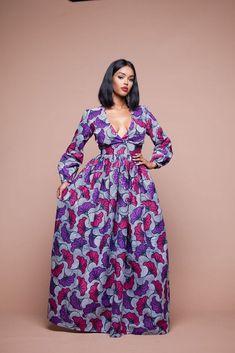 AFRICAN PRINT YUTTI MAXI DRESS