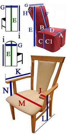 Custom slip covers made to order with your chair sizes