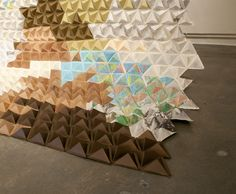 Triangle paper backdrop- Do you think 180 teenagers could make this in a few hrs? Extra credit ? :)