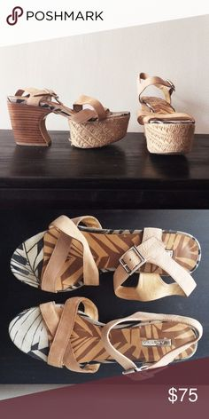 Matiko Platform Heels These are a really fun summer heel. Leather upper straps, wood heel, and rope platform. Matiko Shoes Platforms