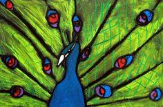 peacock art lessons | 3rd grade pastel peacocks | Art Lessons - Drawing