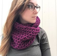 A personal favorite from my Etsy shop https://www.etsy.com/listing/246700189/violetmagenta-crochet-infinity-cowl