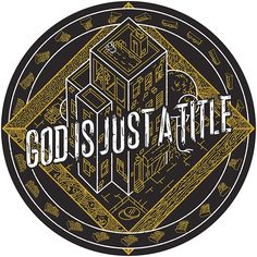 God is Just a title Slipmat on Behance