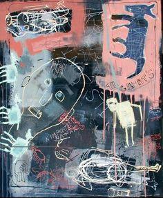 Pierre-Alex. - Sans Titre - Technique mixte sur bois et sous résine - 120 x 100 cm - 2009