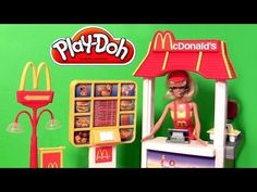 Play Doh McDonald's Barbie Drive-Thru Playset Lightning McQueen Mater Disney Pixar Cars Playdoh