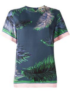 Emilio Pucci feather print T-shirt