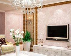 Prepracovaná ružová tapeta s kvetinovým vzorom Oversized Mirror, Furniture, Home Decor, Decoration Home, Room Decor, Home Furnishings, Home Interior Design, Home Decoration, Interior Design