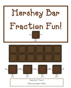 math worksheet : 1000 images about fractions on pinterest  fractions fraction  : Hershey Bar Fraction Worksheet