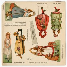 75.2185: Fairy Tale Characters | paper doll | Paper Dolls | Dolls | National Museum of Play Online Collections | The Strong