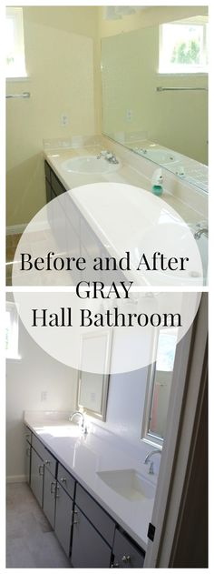 Before and After Hall Bathroom Makeover