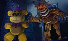 Fredbear Nightmare by LadyFiszi on DeviantArt