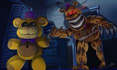 Fredbear Nightmare by LadyFiszi on DeviantArt