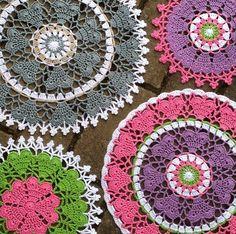 Crochet heart mandala . Pattern made by @crochet_millan