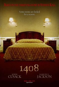"""""""1408"""" - Directed by: Mikael Håfström  - John Cusack, Samuel L. Jackson - 2007 - *** - A writer who debunks paranormal occurrences finds terrifying evidence to the contrary when he checks into a reputedly haunted hotel room in this spooky adaptation of a story by Stephen King - Watched April 9, 2016"""
