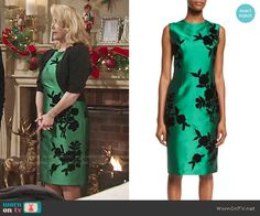 8d12755a8ee Nikki s green floral dress on The Young and the Restless