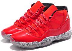 Air Jordan 11 Cement Fluorescence High Black White Red0