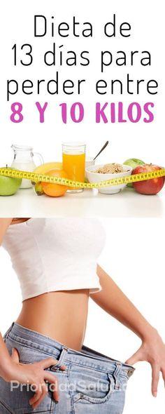 Dieta de 13 dias para perdma er entre y 10 kilos