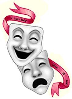 Stunning Theatre Masks Tattoo Design