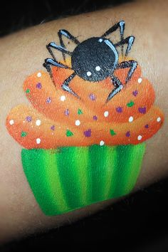 Spider Cupcake- Smiley Faces by Jo