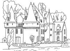 15 Best Coloring Pages Castles Images On Pinterest Coloring - Castle-coloring-pages-printable